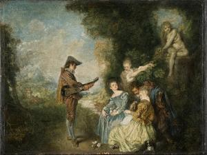 The Love Lesson, 1716-1717 by Jean Antoine Watteau