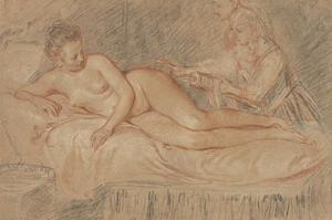 The Remedy by Jean-Antoine Watteau