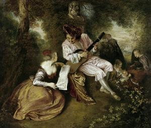 The Scale of Love, 1715-1718 by Jean Antoine Watteau