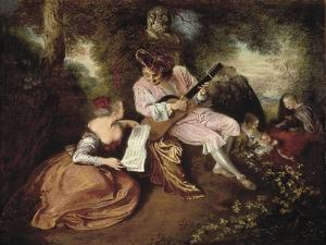 The Scale of Love by Jean Antoine Watteau
