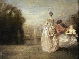 The Two Cousins, 1716-20 by Jean Antoine Watteau