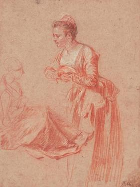 Two Figure Studies of a Young Woman, C. 1716 by Jean Antoine Watteau