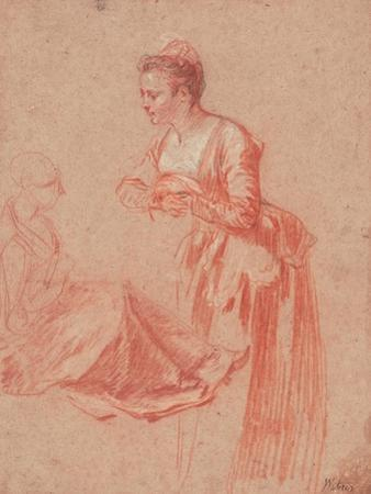 Two Figure Studies of a Young Woman, C. 1716