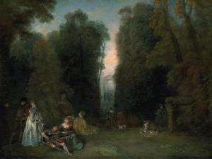 View Through the Trees in the Park of Pierre Crozat, 1715 by Jean-Antoine Watteau