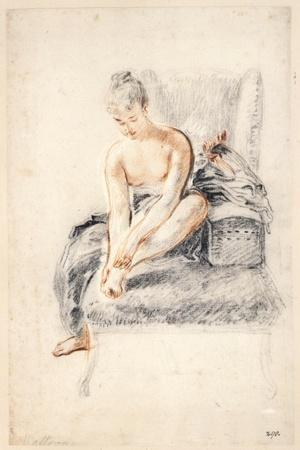 Young Woman, Nude, Holding One Foot in Her Hands, 1716-18