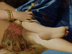 Detail of the Grand Odalisque, 1814 (Detail) by Jean-Auguste-Dominique Ingres