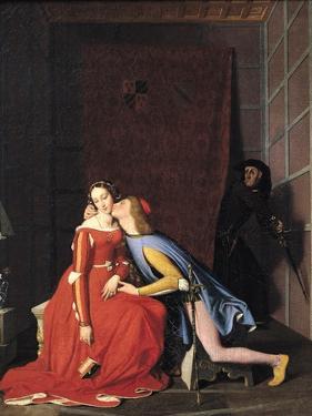 Francesca Da Rimini and Paolo Malatesta, 1819 by Jean-Auguste-Dominique Ingres
