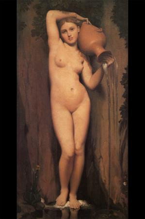 La Source; Nude with Pitcher by Jean-Auguste-Dominique Ingres