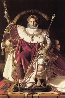Napoleon I on His Imperial Throne by Jean-Auguste-Dominique Ingres