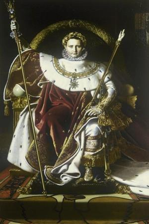 Napoleon I on the Imperial Throne by Jean-Auguste-Dominique Ingres