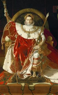 Napoleon on his imperial throne. 1806 by Jean Auguste Dominique Ingres