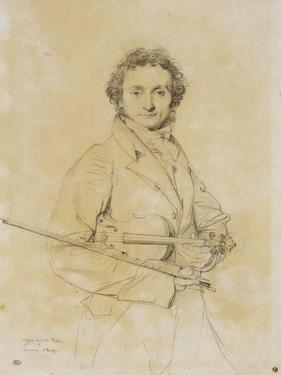 Niccolo Paganini, Violinist, 1819 by Jean-Auguste-Dominique Ingres