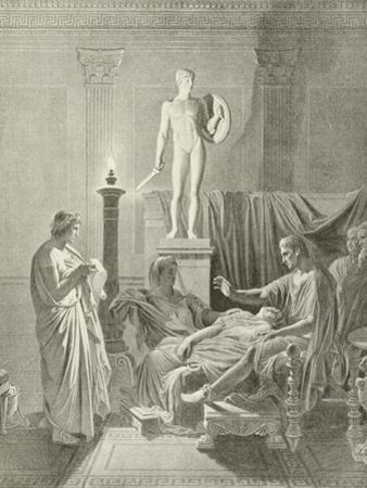 Octavia Overcomme by Virgil's Verses by Jean-Auguste-Dominique Ingres