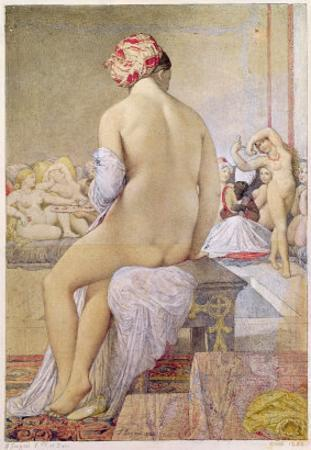 Odalisque or the Small Bather, 1864 by Jean-Auguste-Dominique Ingres