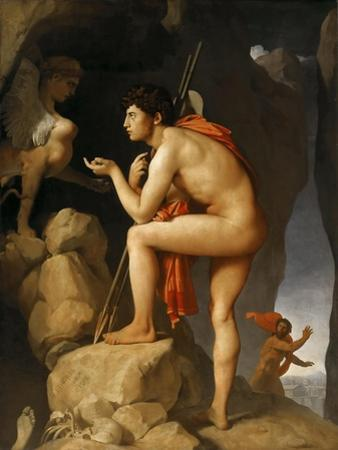 Oedipus and the Sphinx by Jean-Auguste-Dominique Ingres