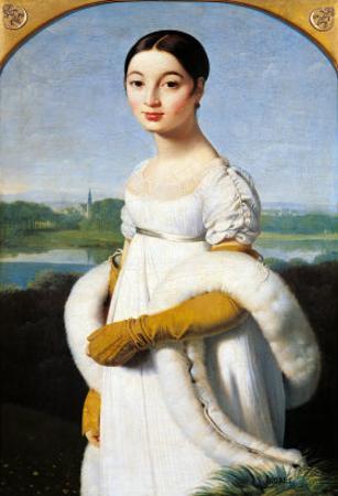 Portrait of Mademoiselle Caroline Riviere (1793-1803) 1805 by Jean-Auguste-Dominique Ingres