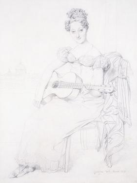 Portrait of Miss Elizabeth Keating Playing Her Guitar, 1816 by Jean-Auguste-Dominique Ingres