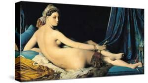 The Grand Odalisque, c.1814 by Jean-Auguste-Dominique Ingres