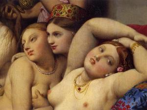 The Turkish Baths, Detail by Jean-Auguste-Dominique Ingres