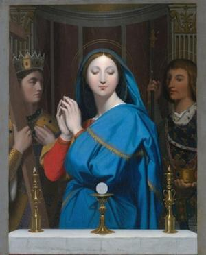 The Virgin Adoring the Host by Jean-Auguste-Dominique Ingres