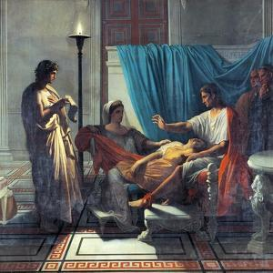 Virgil Reading Aeneid to Augustus, Octavia, and Livia by Jean-Auguste-Dominique Ingres