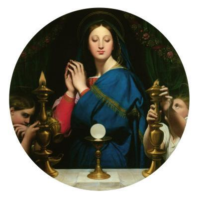 Virgin with the Host by Jean-Auguste-Dominique Ingres