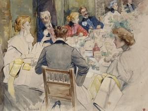 Elegant Dinner Party by Jean B?raud