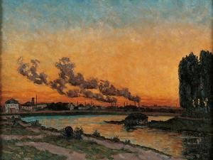 Sunset in Ivry by Jean-Baptiste-Armand Guillaumin