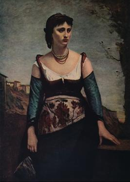 'Agostina', 1866 by Jean-Baptiste-Camille Corot