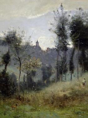 Canteleu Near Rouen by Jean-Baptiste-Camille Corot