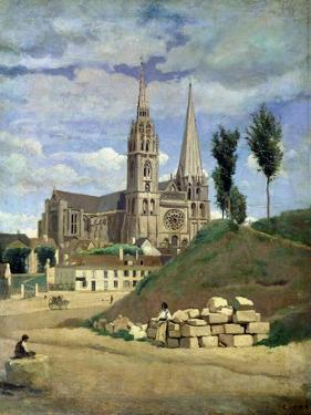 Chartres Cathedral, 1830 by Jean-Baptiste-Camille Corot