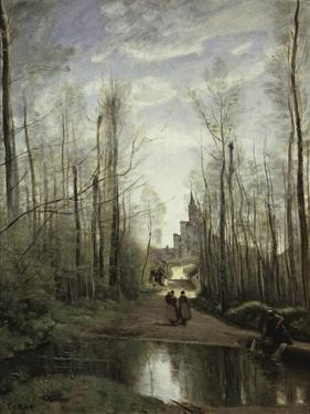 Church of Marissel Near Beauvais, c.1866 by Jean-Baptiste-Camille Corot