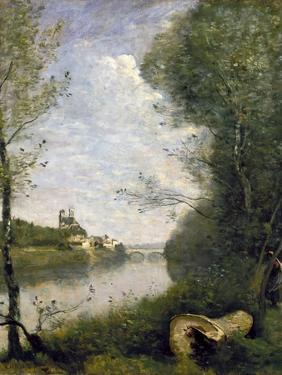 Corot: Cathedral, C1855-60 by Jean-Baptiste-Camille Corot