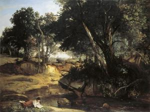Forest of Fontainebleu by Jean-Baptiste-Camille Corot