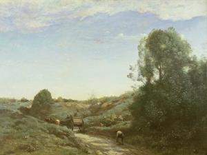 La Charette, Memory of Marcoussis by Jean-Baptiste-Camille Corot