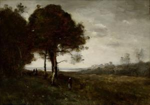 Landscape by Jean-Baptiste-Camille Corot