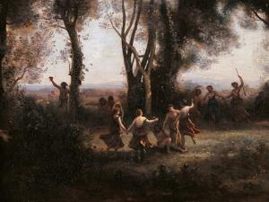 Morning. The Nymphs Dance by Jean-Baptiste-Camille Corot