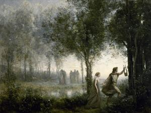 Orpheus Leading Eurydice from the Underworld, 1861 by Jean-Baptiste-Camille Corot