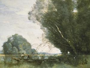 Punting by Jean-Baptiste-Camille Corot