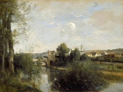 Seine and Old Bridge at Limay, 1872