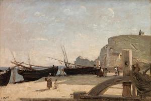 The Beach, Etretat, 1872 by Jean-Baptiste-Camille Corot