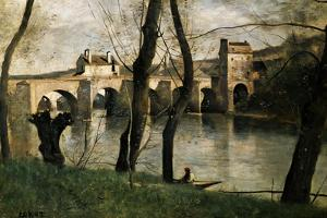 The Bridge at Mantes, 1868 by Jean-Baptiste-Camille Corot