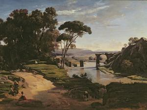 The Bridge at Narni, c.1826-27 by Jean-Baptiste-Camille Corot