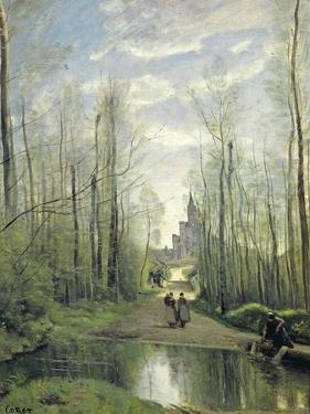 The Church at Marissel, 1866 by Jean-Baptiste-Camille Corot