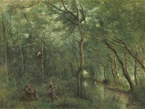 The Eel Gatherers by Jean-Baptiste-Camille Corot