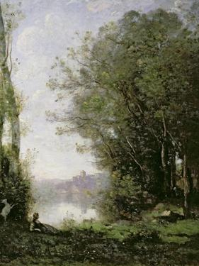 The Goatherd Beside the Water by Jean-Baptiste-Camille Corot