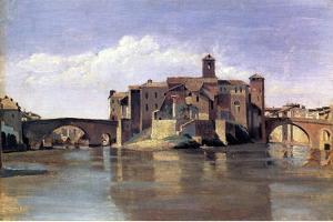 The Island of San Bartolomeo, 1826-28 by Jean-Baptiste-Camille Corot