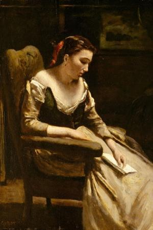 The Letter, c.1865 by Jean Baptiste Camille Corot