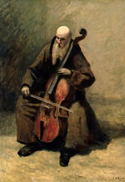 The Monk, 1874 by Jean-Baptiste-Camille Corot