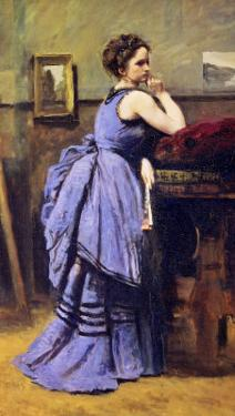 The Woman in Blue, 1874 by Jean-Baptiste-Camille Corot